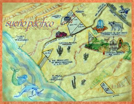 Map of Sueño Pacifico~Beachfront & Ocean View Properties